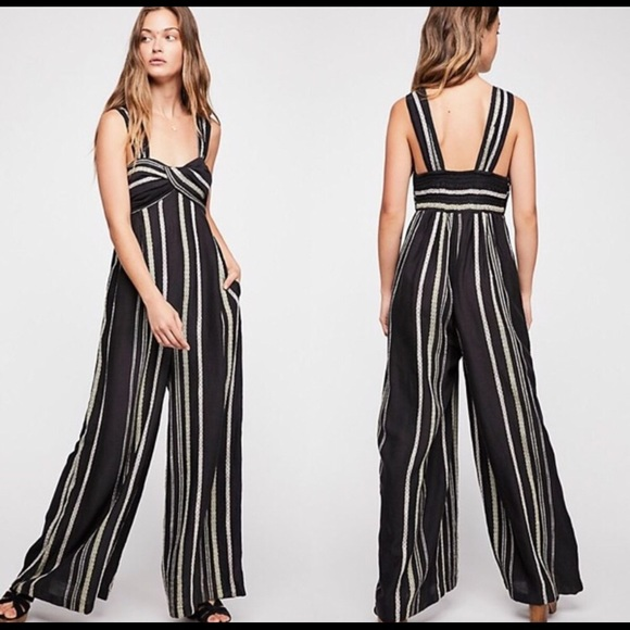 f671effe4290 Free People Pants - Free People Breezin  Through Striped Jumpsuit XS